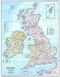 イギリス 地図 ポスター 95×75cm