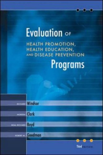 Evaluation of Health Promotion, Health Education, and...