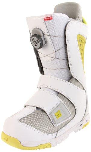 DC Men's Status 2012 Performance Snowboard Boot,White/Yellow,11.5 M US