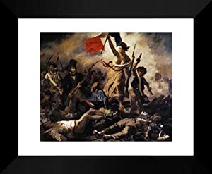 Liberty Leading the People (28th July 1830) 20x24 Framed Art Print by Delacroix, Eugene