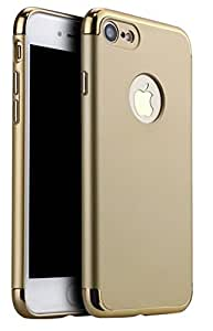 ikazen Luxury Hybrid *3-in-1 SHOCKPROOF* Dual Layer Thin Ultra Slim Back Case for Apple iPhone 7 (Gold)