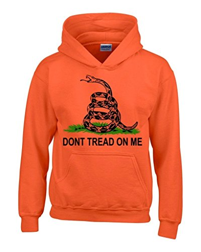 Artix Don'T Tread On Me Unisex Hoodie Politics Tea Party Sweatshirts Medium Orange