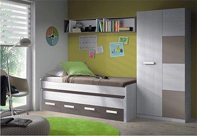 Mobimarket - Dormitorio Juvenil compuesto por cama