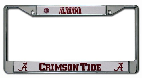 NCAA Alabama Crimson Tide Script A Chrome License Plate Frame at Amazon.com