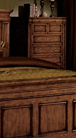 5 Drawer Chest in Tobacco Oak by Furniture of America