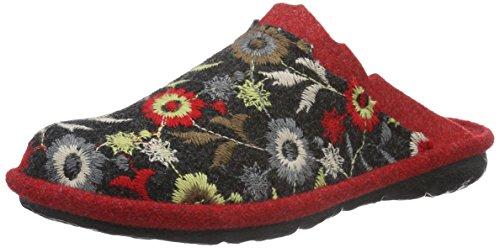 RomikaMikado 88 - Ciabatte non imbottite Donna , Multicolore (Mehrfarbig (rot-multi 473)), 36