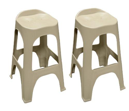 Adams 8350-23-3702 Real Comfort 2-Pack Bar Stool, 30-Inch, Desert Clay