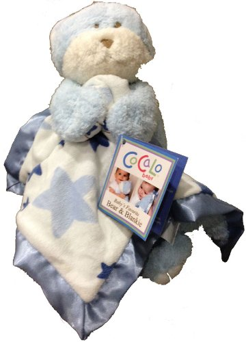 Cocalo Blue Teddy Bear & Baby Blanket Set - 1