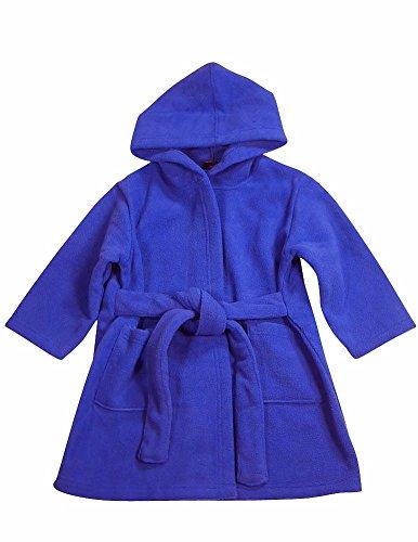 WXY - Baby Boys Hooded Fleece Robe, Royal 32900-9-12Months