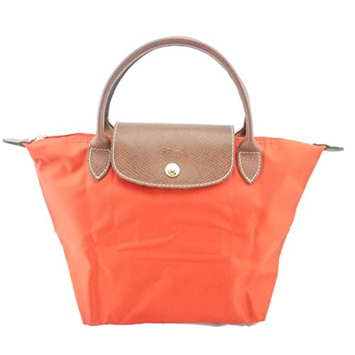 Longchamp discount duty free Longchamp Small Handheld Tote - Le Pliage - Poppy