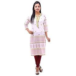 Kyaara Womens Cotton Ethnicwear Kurta (Ky00482W_Xs_Off-White)