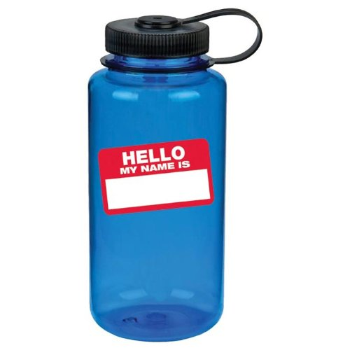 Nalgene Wide Mouth Bottle (Blue Hello, 1 - Quart) front-482235