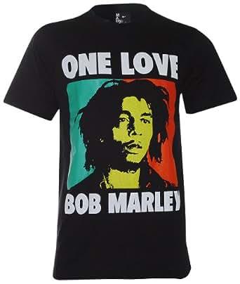 Bob Marley Ska ,Rocksteady and Reggae T-Shirt (MA015) (Medium, Black)
