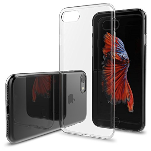 Mobilix Back Cover Transparent Silicon Premium Case Back Cover For iPhone 7(Transparent)