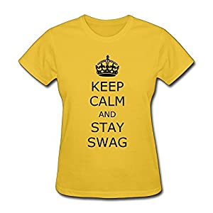 Vintage Keep Calm Stay Swag Women's Tee Shirts Short Sleeve