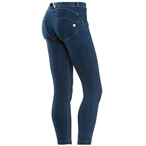 Freddy Wrup 7/8 Pantalone con Zip, Jeans, M