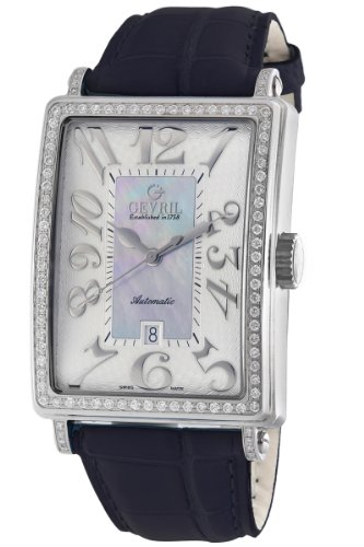 Gevril Women's 6207NL Glamour Automatic Blue Diamond Watch