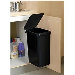 rossignol portasac 98740 waste bin door mounted 23 l black kitchen home. Black Bedroom Furniture Sets. Home Design Ideas