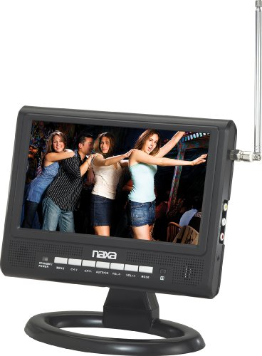 Naxa 9 inch NT-9567 Widescreen AC/DC Digital LCD TV with FM Radio and USB/SD/MMC Inputs