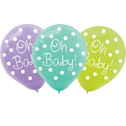 Modern Mommy Printed Latex Balloons 15 Pack