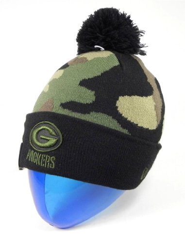 Green Bay Packers Camouflage Knit Hat