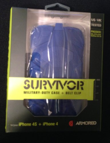 41KctwnJDlL ~ Griffin Survivor Armored Edition iPhone 4/4s Dark Blue Promo Offer