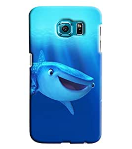Clarks Blue Whale Hard Plastic Printed Back Cover/Case For Samsung Galaxy S6 Edge