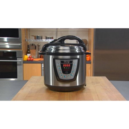 Harvest Cookware Pressure PRO Automatic 1 Touch Pressure Cooker 6-Quart, Black (Kevin Dundon Steamer compare prices)