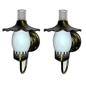 Wall Sconce Glass Chimney : Pair of Vintage Artolier Antique Brass Wall Sconce Lamp ...