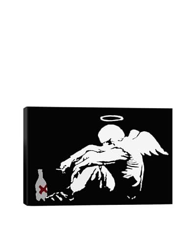 Banksy Drunken Angel #2 Giclée On Canvas