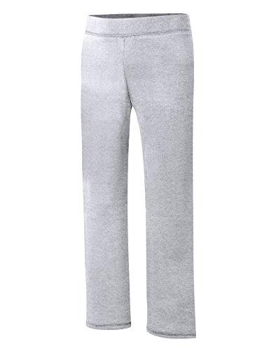 Hanes Girls' Big Girls' Comfortsoft Ecosmart Open Bottom Fleece Sweatpant, Light Steel, M