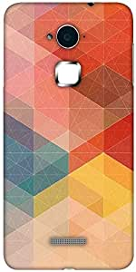Snoogg Design polygon Designer Protective Back Case Cover For Coolpad Note 3 (White, 16GB)