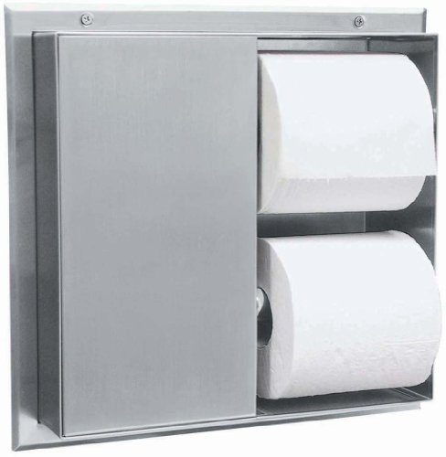 Bobrick 386 304 Stainless Steel Partition Mounted Multi Roll Toilet Tissue Dispenser With 2 Toilet Compartments Satin Finish 13 14 Width X 10 916 Height Price Congkhiem1852