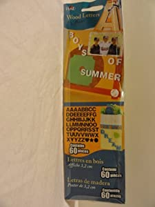 """Boys of Summer Wood Letters - 1-1/4"""" Poster - Contains 60 Pieces"""