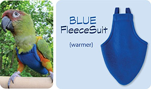 X-Large FlightSuit (Bird Diaper) w/AnchorLine plus Flightliners (Blue Fleece) (Bird Harness Medium compare prices)