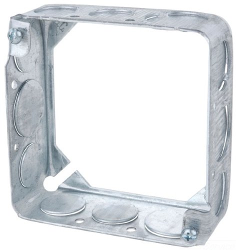 Steel City 53151 1/2 Pre-Galvanized Steel Square Box Extension Ring With 1/2-Inch Knockouts