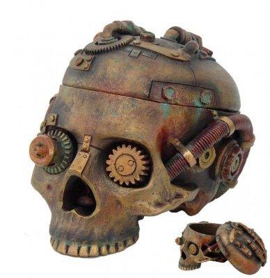 Steampunk Skull Trinket Box
