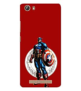 EPICCASE Captain America Mobile Back Case Cover For Gionee Marathon M5 lite (Designer Case)