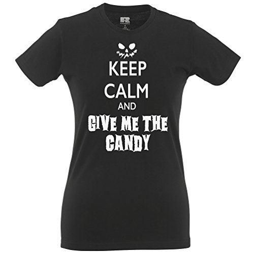Keep Calm And Carry On Give Me The Candy Halloween Costume Scary Funny T Shirt
