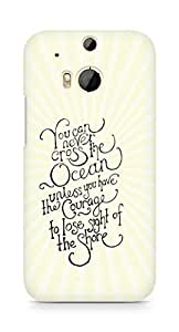 AMEZ you can never cross the Ocean Back Cover For HTC One M8