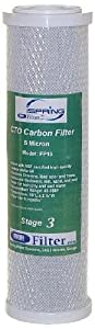 iSpring FC15x25 CTO Carbon Block 2.5-Inch x 10-Inch Water Filter, 25-Pack