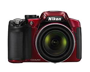 Nikon COOLPIX P510 16.1 MP CMOS Digital Camera with 42x Zoom NIKKOR ED Glass Lens and GPS Record Location (Red)