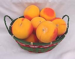 12 Piece Set Peaches Decorative Fruit