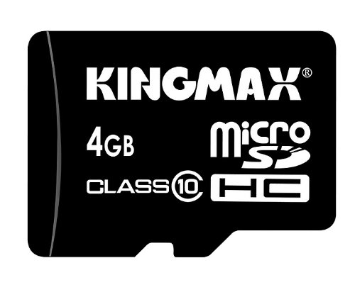 KINGMAX 4GB Ultra High Speed SDHC microSD microSDHC Class 10 Flash Memory Card mit 4 GB KM04GMCSDHC101A freien SD-und miniSD-Adapter und USB-Reader N111
