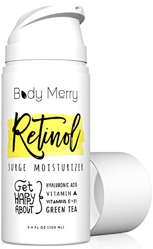 Retinol Cream Moisturizer 2.5% - 3.4 OZ Firming Anti-Aging & Anti-Wrinkle Night Lotion to Even Skin Tone & Fight Acne with Best Natural Ingredients like Hyaluronic Acid Serum + Green Tea and Vitamins