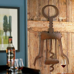 Giant Metal Corkscrew Wall Art front-641491