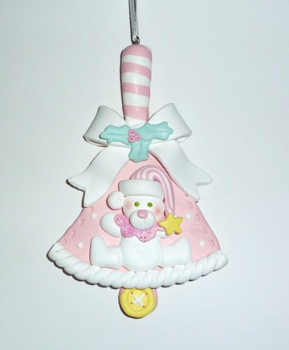 Ornament, Christmas - Baby, Pink Bell, Personalized front-650255