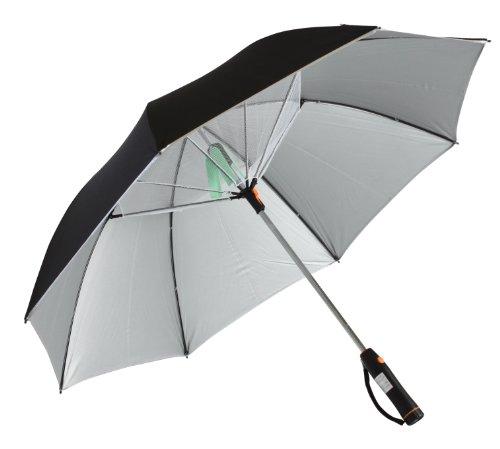 扇風機付日傘(扇風機日傘) ブラック