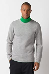 Fashion Show Double Face Jersey Pique Turtleneck