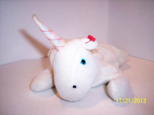 TY Beanie Babies Mystic the Unicorn Stuffed Animal Plush Toy - 8 inches long - White - 1